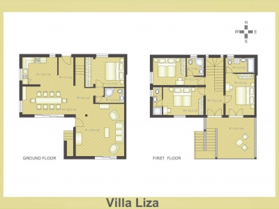 Layout of Villa Liza