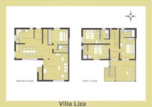 Ground plan of Villa Liza