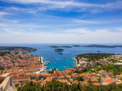 Panorama view of Hvar