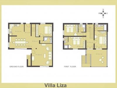 Layout of Villa Liza