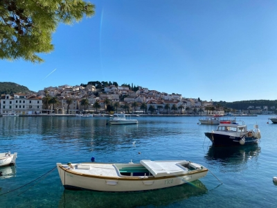 View from the walkway in Hvar centar
